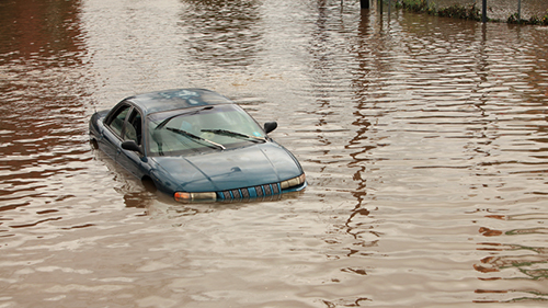 Flooded Car Image